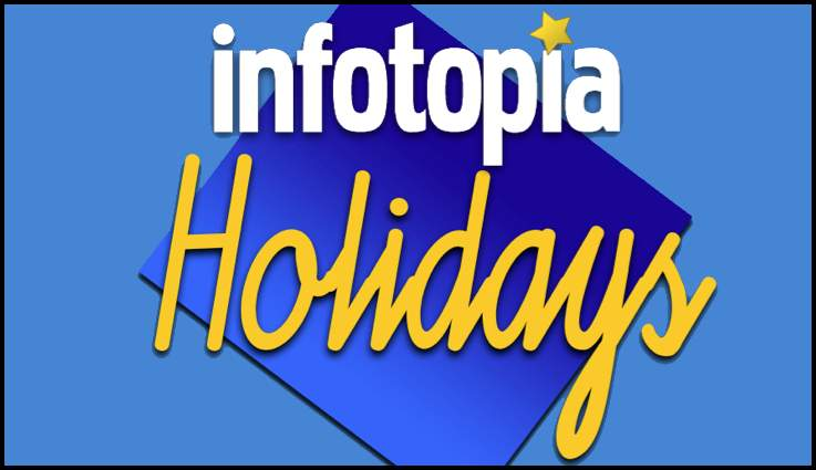 Visit Infotopia`s collection of national holiday sites for Veterans` Day, Thanksgiving, Christmas, and more.