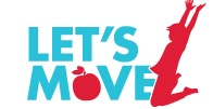 Let's Move has links to learn the facts, eating healthy, getting active, taking action, and moving together.
