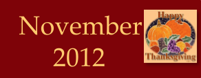 November 2012 Infotopia Newsletter