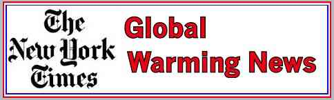 New York Times Newspaper Global Warming News