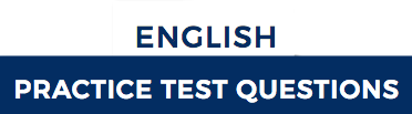 Take Practice Test Questions for English for the ACT.