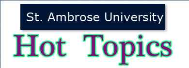 St. Ambrose University Library has a list of Hot Topics in this field.